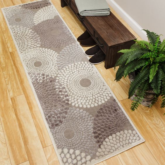 Mitigate the impact that frequent footsteps can have on your hard flooring with this runner rug from Nourison. Made from polyacrylic material, this strong and durable rug cushions the soles of feet as
