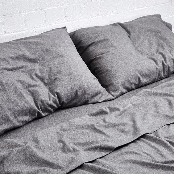 Cold mornings, cozy sheets. IN BED cotton flannel in grey chambray ❄️❄️❄️ See more at inbedstore.com #inbedflannel #INBEDstore by inbedstore http://ift.tt/25inQrv: