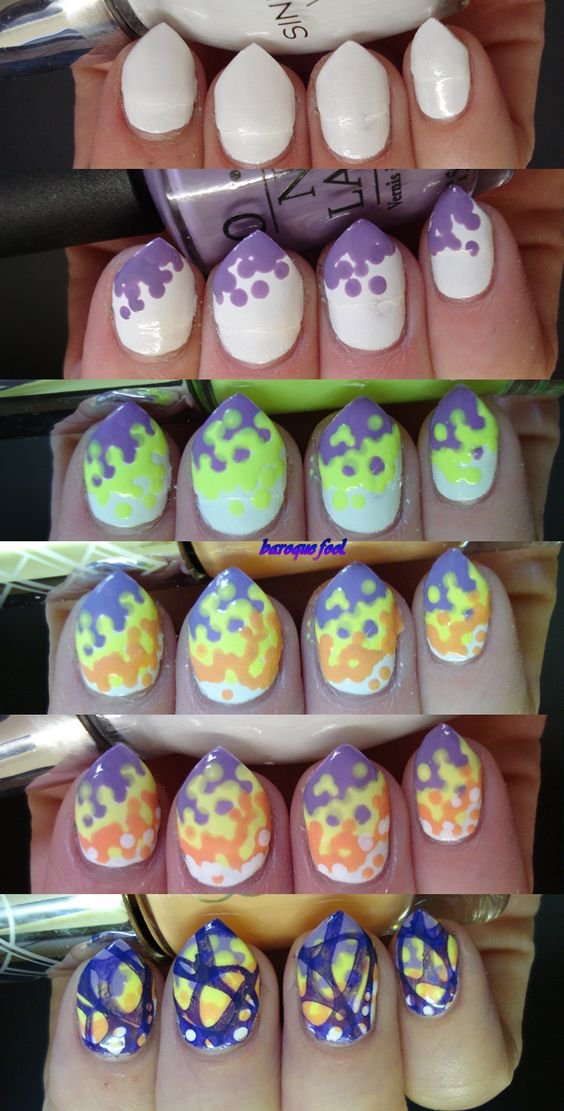 Acid butterfly nail art tutorial