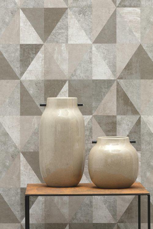 Aposte em um papel de parede geométrico que que se adeque ao seu ambiente e o deixe mais elegante e moderno.