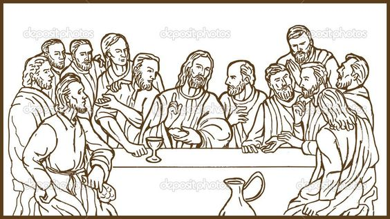 supper and more jesus last supper last supper suppers coloring pages