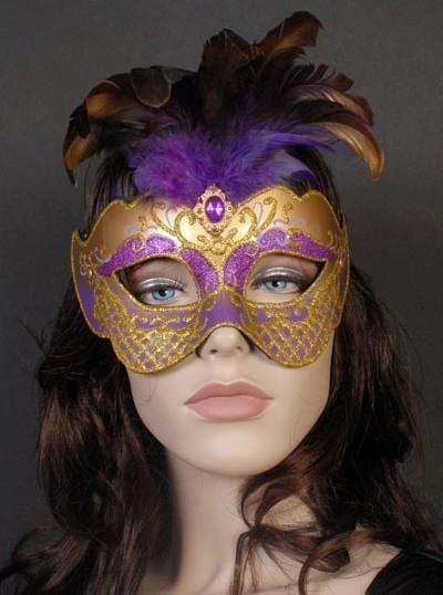 Purple & Gold Masquerade Mask