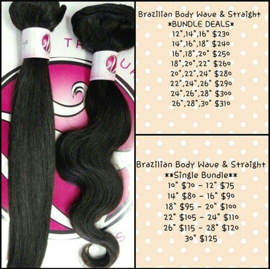 Price List For Brazilian Hair Treasure Chest Virgin Hair