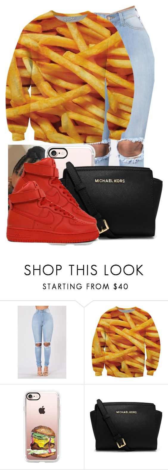 """""""Ketchup & Fries"""" by danimack03 ❤ liked on Polyvore featuring Casetify, MICHAEL Michael Kors and NIKE"""