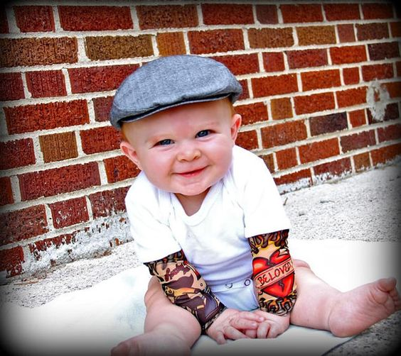 White Heartbreaker tattoo sleeve onesie or by Thetattoodtyke, $25.00