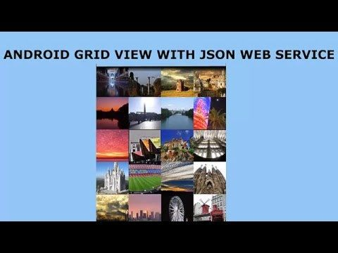 android grid view layout using a json web service and picasso delaroy studios channel pinterest watches layout and android