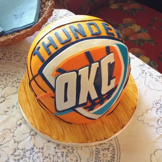 17 Best Images About Okc Thunder Cake
