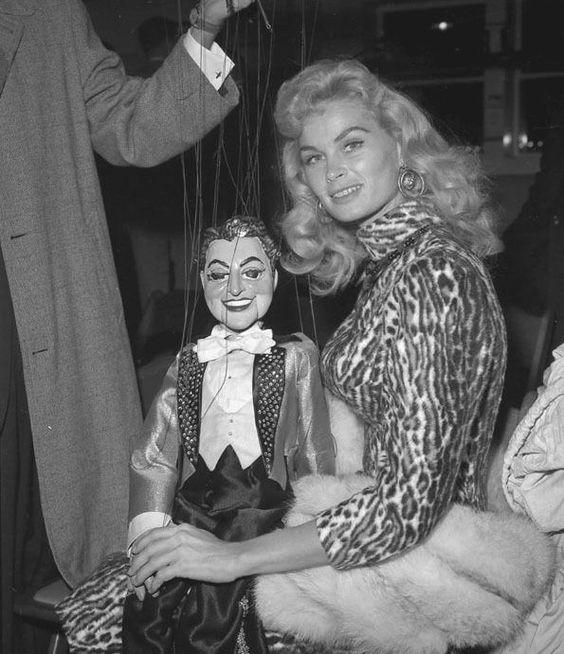 Irish McCalla and her Liberace marionette