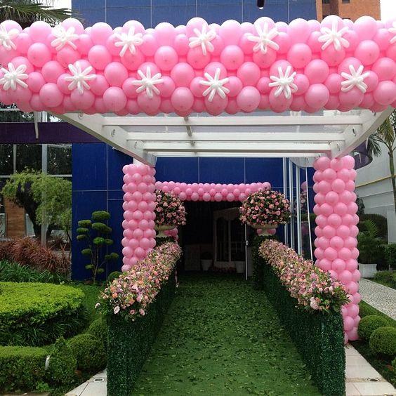 Linda festa para as meninas!!! #festainfantil #festamenina #baloes