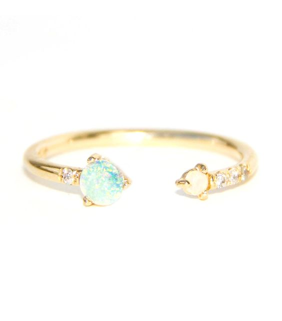Must-Have: The Ring You'll Wear Forever   WWAKE OTTENY.COM   Opal, diamonds, and 14k gold, oh my!$658