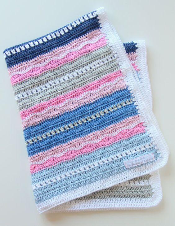 Crochet pattern newborn baby blanket | Ganchillo para bebés ...
