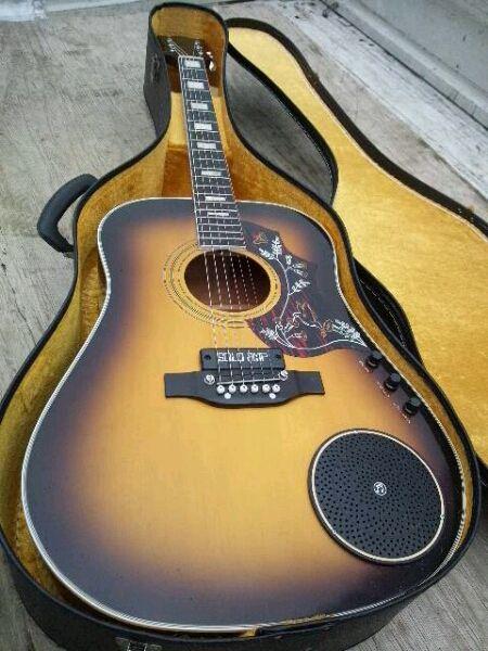 elfolk acoustic guitar with far out solo amp bridge pickup guitar pickin 39 pinterest. Black Bedroom Furniture Sets. Home Design Ideas