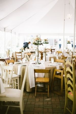 mismatched vintage chairs brought from ceremony to reception // photo by TandCPhotographie.com