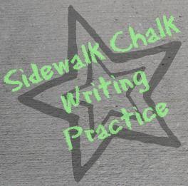 In Lieu of Preschool: Sidewalk Chalk Writing Practice
