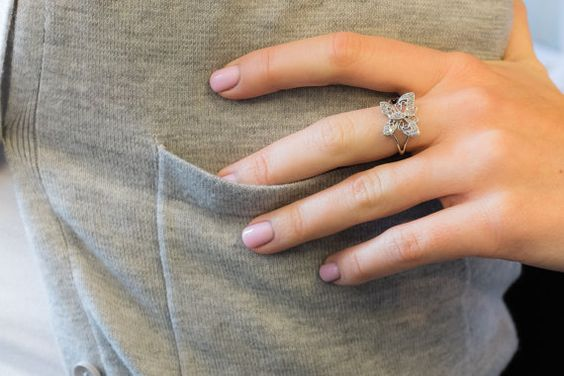 Beautiful Classic Vintage 10K White Gold Dainty by OaksBoutique, $229.00