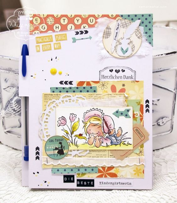 teacher's gift - a decorated notepad cover