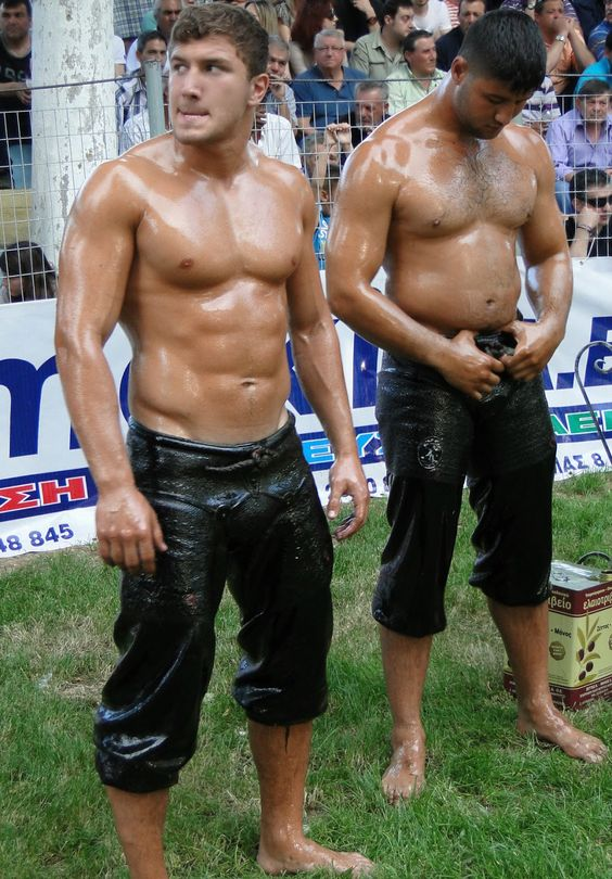 turkish oil wrestlers naked