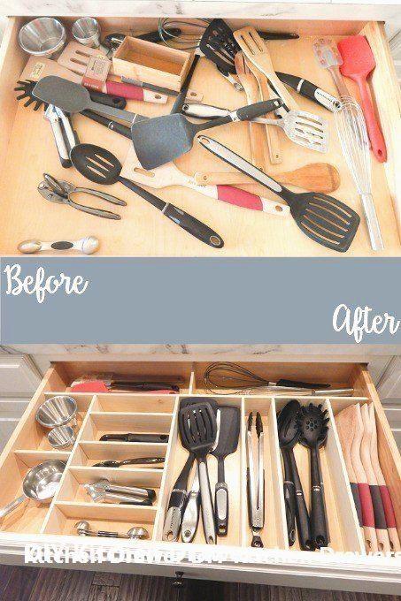 Diy Kitchen Drawer Organizer Ideas In 2020 Diy Kitchen Renovation Kitchen Organization Diy Kitchen Utensil Storage