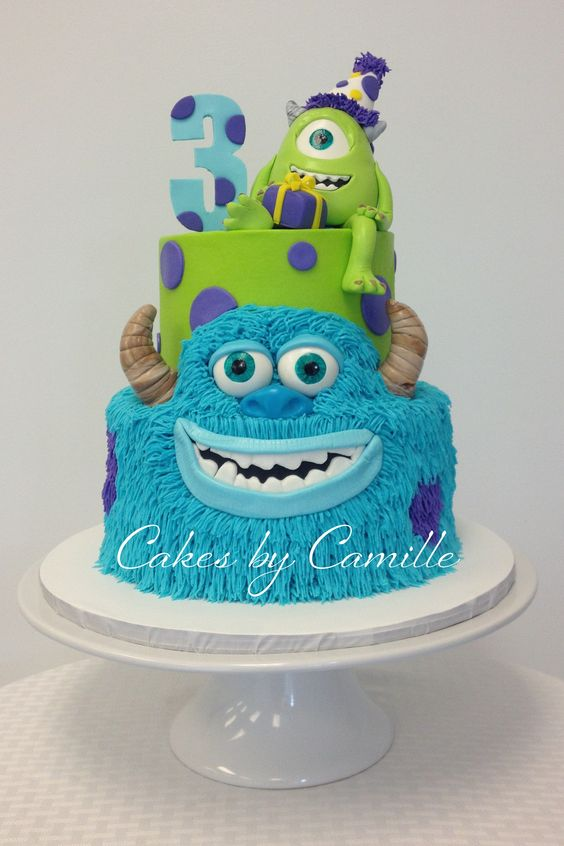 Monsters Inc. University Birthday Cake, Mike and Sulley:
