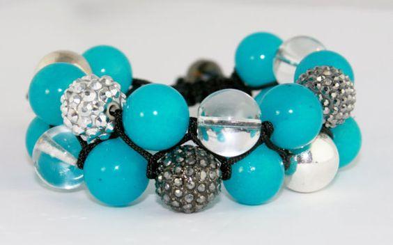 Blue Weave Macrame Bracelet by Anjewelz on Etsy, $60.00