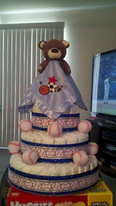 Baseball Diaper Cake (Jade/Julio/Jaden 2012)