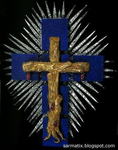 Lapis Lazuli Cross - jewelry by Salvador Dali, Figueres, Spain.