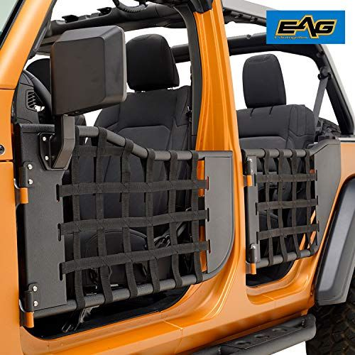 Eag Matrix Tubular Door Set With Side View Mirror Pair Fit For 2018 2020 Jeep Wrangler Jl 4 Door Only Jeep Wrangler Accessories Jeep Wrangler Wrangler Jl
