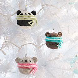 Amigurumi Teddy Ornaments
