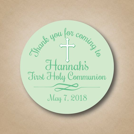 First Holy Communion Favor Stickers Boys by StickEmUpLabels