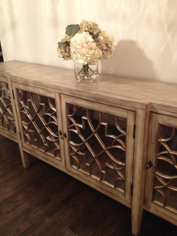 Mirrored Buffet Table For Dining Room Home Ideas Pinterest And