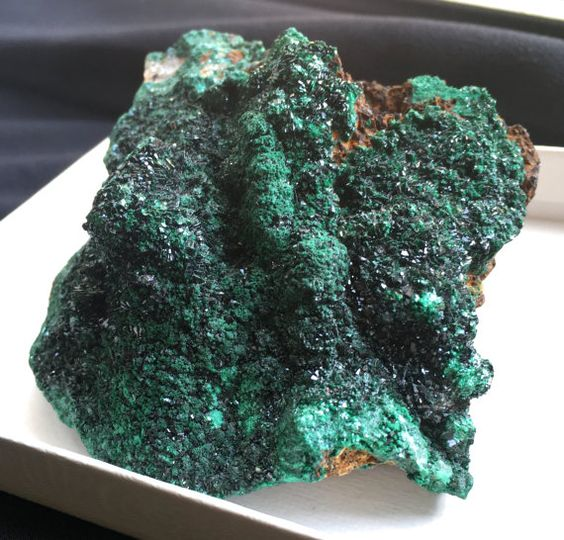 Large Deep Green Sparkling Malachite Specimen by ZensationCrystals