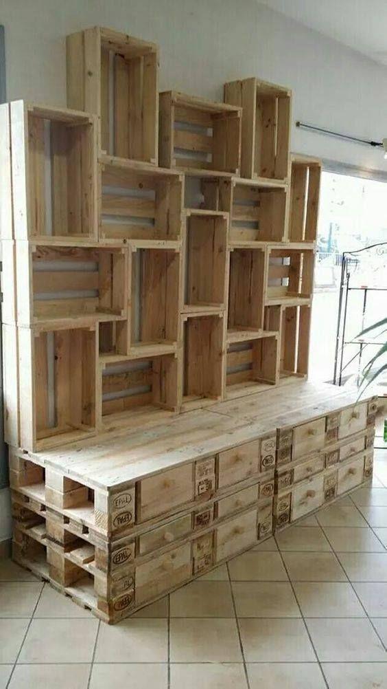Supers Idees Bricolage Pour Votre Prochain Projet Menuiserie Bois Woodwork Wood Palette Bois Idees De Meubles Etageres En Bois De Palettes