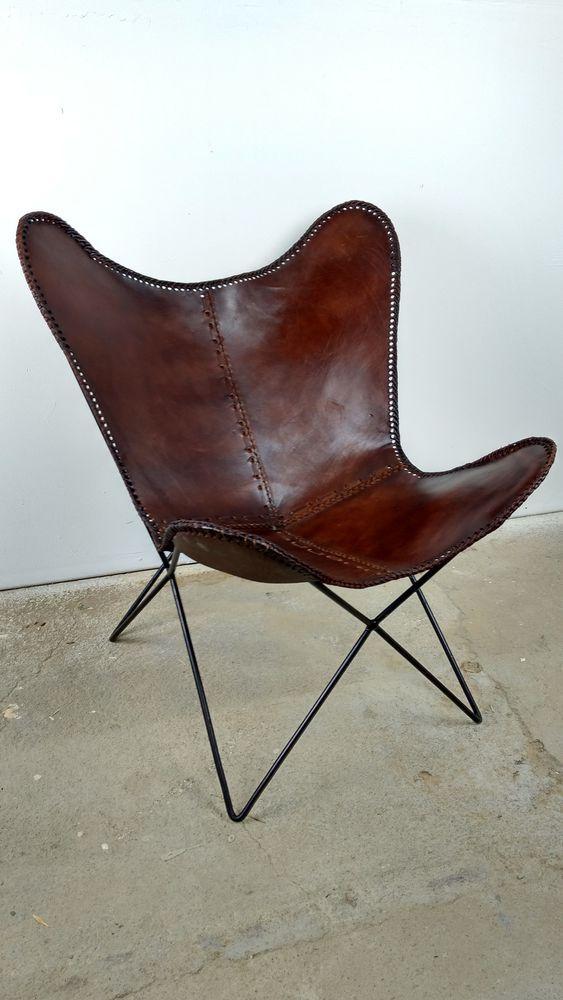 butterfly sessel leder original williamflooring. Black Bedroom Furniture Sets. Home Design Ideas