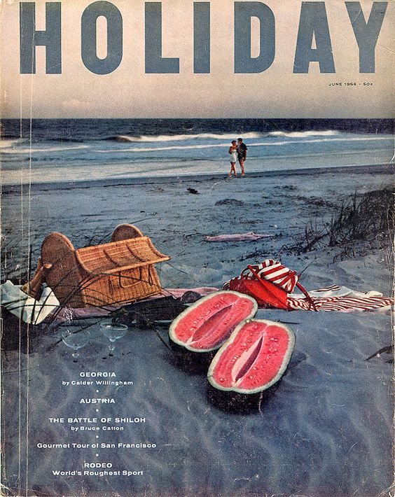 http://gono.com/adart/holiday/Holiday-June-1956.jpg: Design Arts, Magazine Covers, June 1956, Design Ideas, Mail Postcards, Graphic Inspiration, Holiday June, Snail Mail