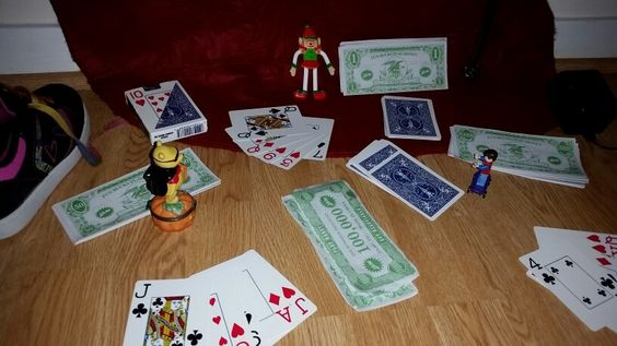 That Bob! Poker with Halloween Winnie-the-Pooh and Marty McFly.