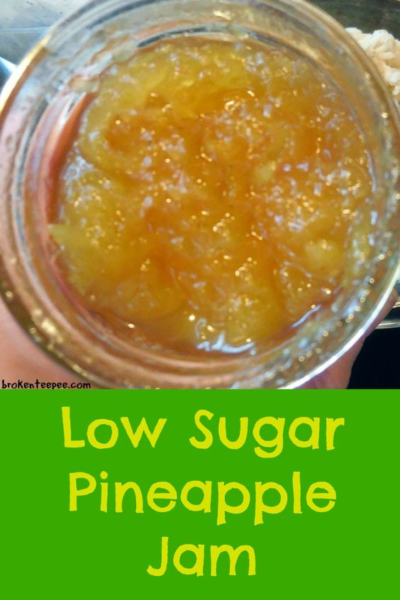 Low Sugar Pineapple Jam with Variation