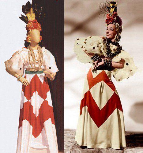 That Night in Rio costume (1941) Carmen Miranda carmen.miranda.nom.br