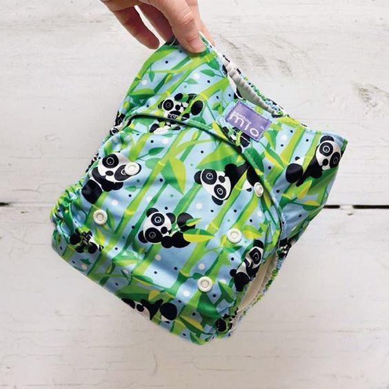 Pandamonium cloth nappy/diaper print