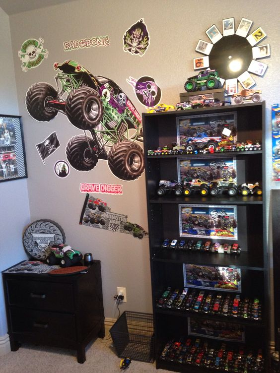 monster jam bedrooms and monsters on pinterest
