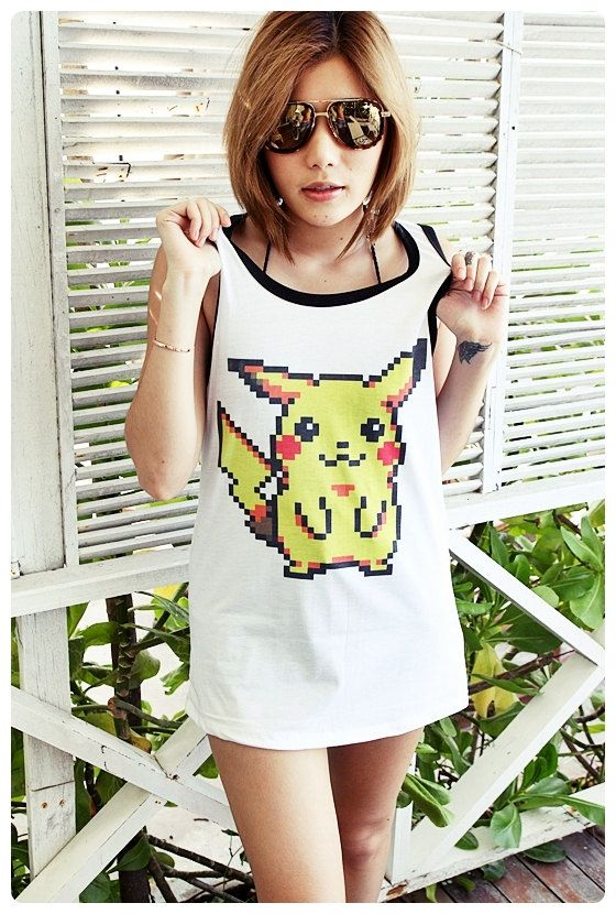 Hey, I found this really awesome Etsy listing at https://www.etsy.com/listing/192545556/pikachu-pokemon-long-tank-top-unisex-men: