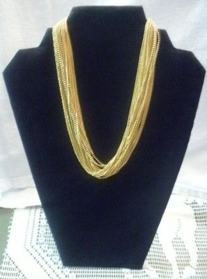 Vintage Rare Anne Klein Signed Choker Layered Necklace