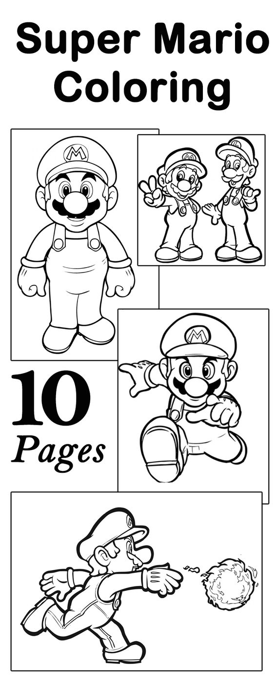 mario question block coloring pages - photo#34