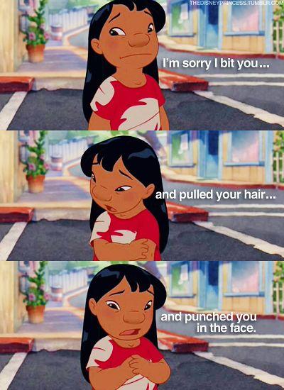 Hahaha. Lilo & Stitch :)