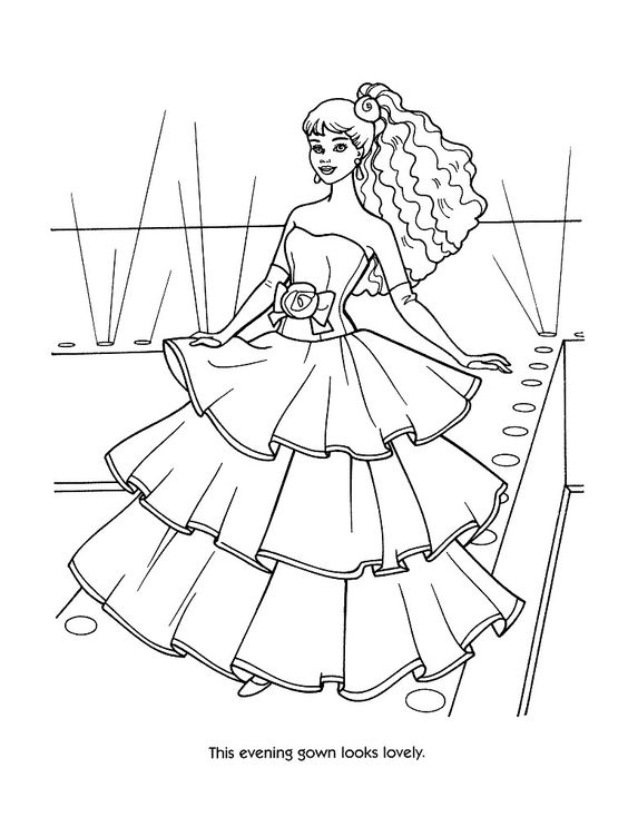 Barbie Coloring Page | marina | Pinterest | Färben, Fashion Kids und ...
