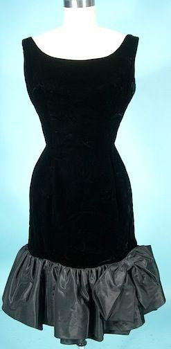 Black dress pinterest double ruffle velvet dresses and black silk