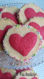 Frau Brotbäcker: Rote Herz Kekse