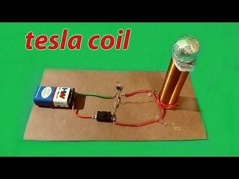 Make A Mini Tesla Coil Easy To Make Battery On Off Switch Transistor 2n 2222a 22k Resistance 20ml Syringe 27number C Tesla Coil Diy Tesla Coil Tesla