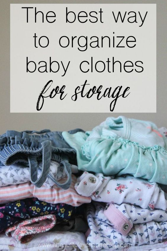 Seriously the best way to organize outgrown baby clothes Best way to organize clothes