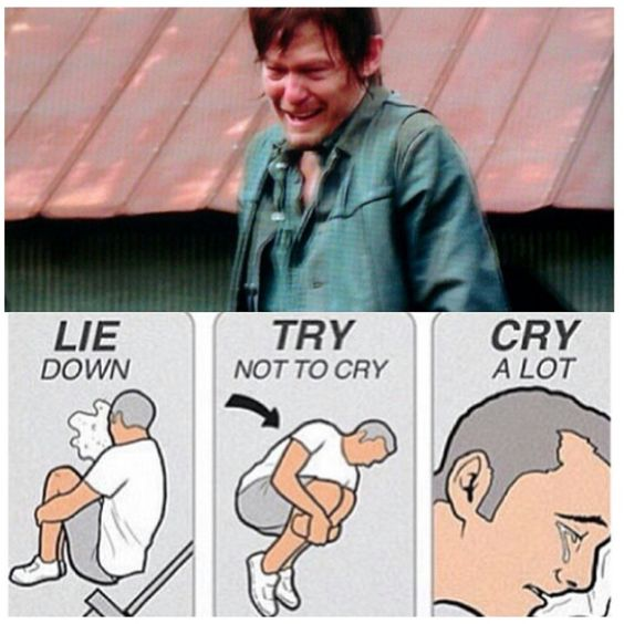 When Daryl cries, we all cry. #TheWalkingDead