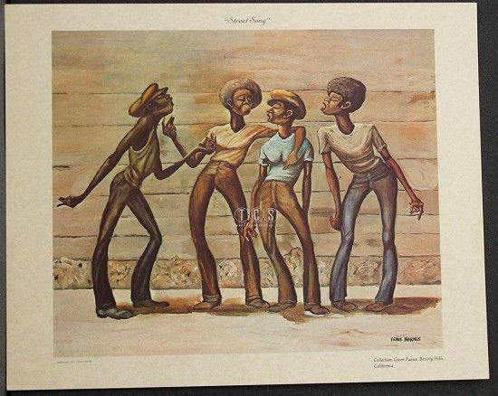 STREET SONG LITHOGRAPH BY ERNIE BARNES: Barnes Artwork, Barnes Paintings, African American Art, Ernie Barnes Art, African Art, Artist Ernie, Black Art, Beautiful Art